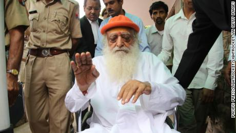 Spiritual leader Asaram Bapu, pictured outside Jodhpur's district court, 2016.