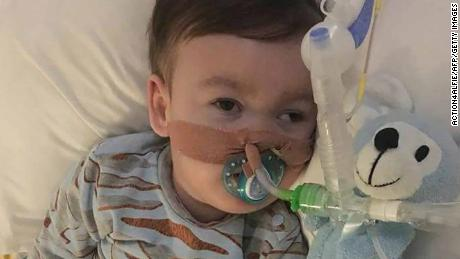 (FILES) In this file photo of April 05, 2018 a handout picture released by Action4Alfie operating the facebook group alfiesarmy and the Save Alfie Evans website on April 5, 2018 shows seriously ill British toddler Alfie Evans at Alder Hey Children's Hospital in Liverpool.