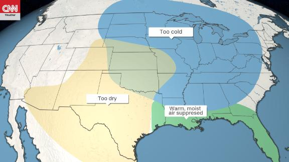 The prevailing weather patterns this spring have not been conducive to tornadoes in the Midwest.