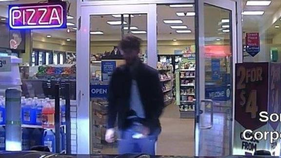 Police say this image shows Williams walking out of a store early Wednesday in Norridgewock, Maine.