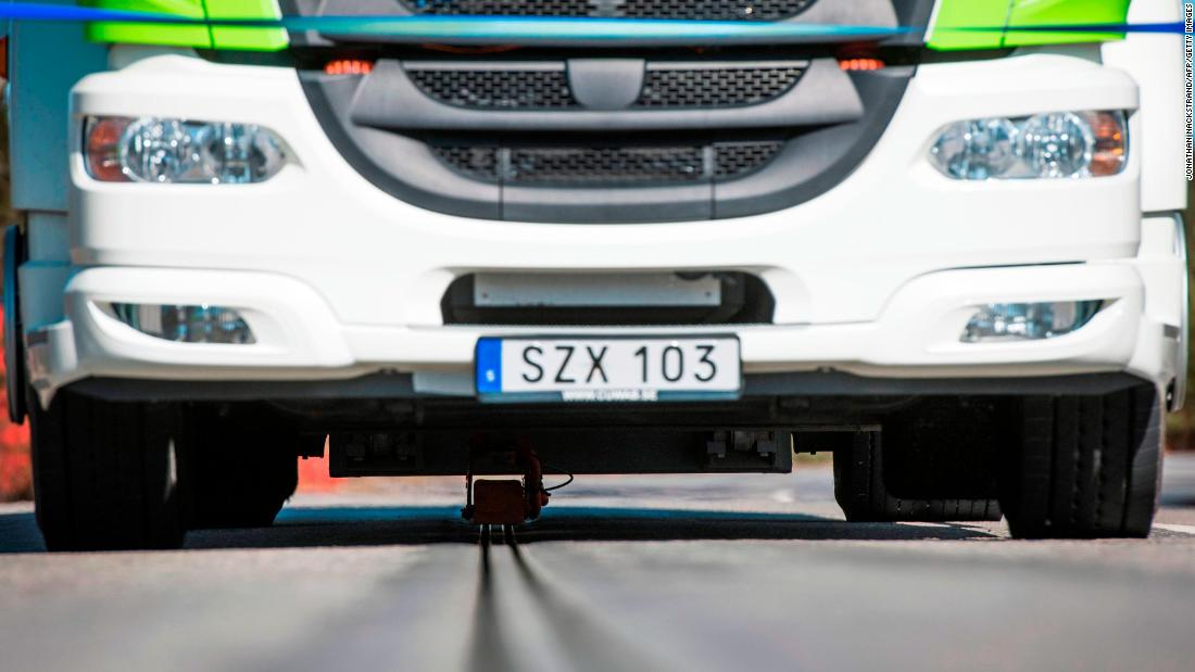 Sweden Opens New Road That Charges Electric Vehicles Like Real Life Slot Cars Cnn