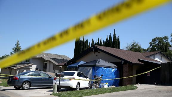 A view of the home of accused rapist and killer Joseph James DeAngelo in Citrus Heights.