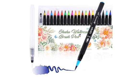 """<strong>Ohuhu Watercolor Brush Marker Pens ($16.49; </strong><a href=""""https://amzn.to/2I1tKIr"""" target=""""_blank"""" target=""""_blank""""><strong>amazon.com</strong></a><strong>) </strong>"""