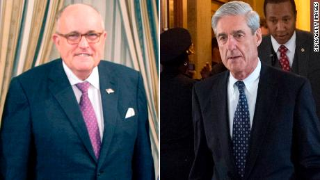 Rudy Giuliani and Robert Mueller
