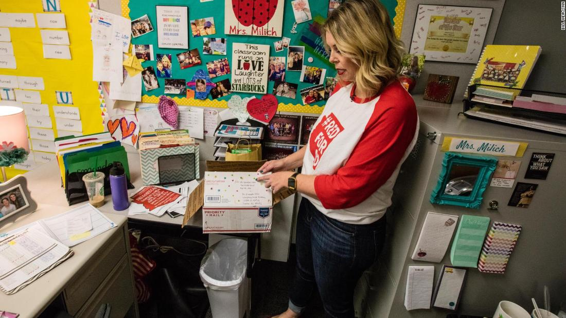 Arizona teachers walk out of their poorly equipped classrooms