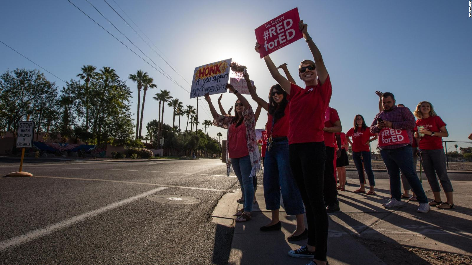 Arizona Teachers Walk Out In Latest Red State Revolt Cnn
