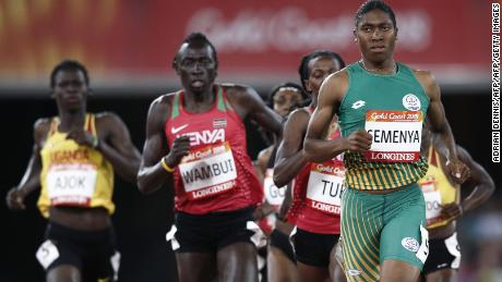 Caster Semenya (right) is a two-time Olympic 800m champion.
