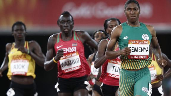 Semenya is the women's 800m double Olympic champion