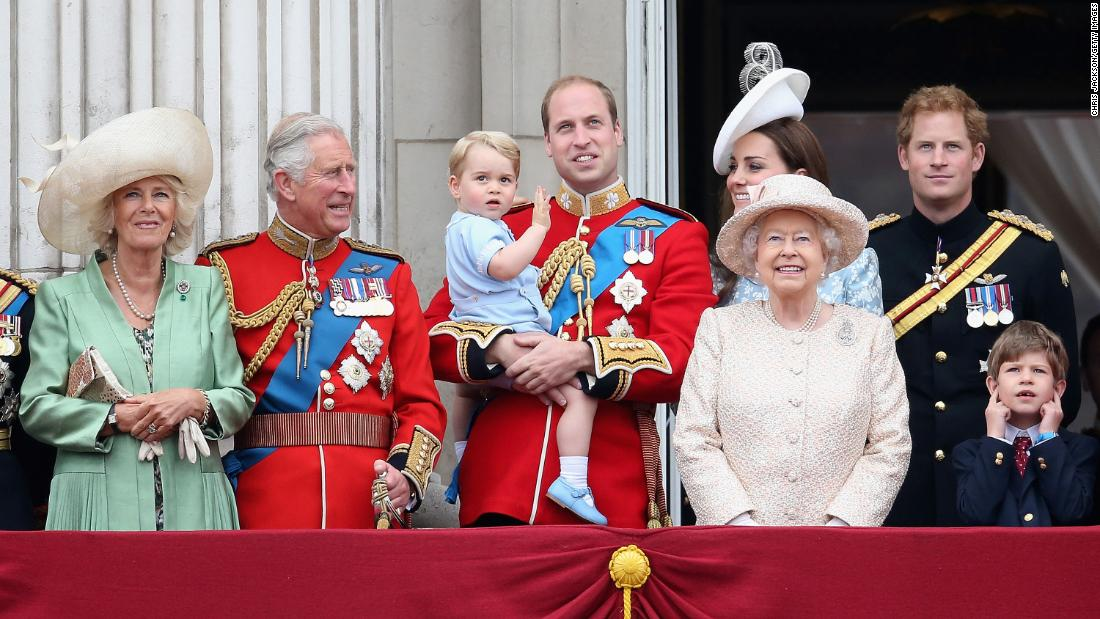 "Harry (back right) watches the annual ""Trooping the Colour"" parade with other members of the royal family on the balcony of Buckingham Palace. ""That's one of few times we see the whole royal family out on the balcony,"" says Jackson. ""It's great to capture these relaxed moments."" London, UK, June 2015."