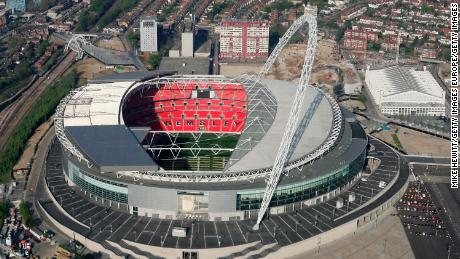 LONDON - APRIL 20:  The new Wembley stadium on April 20, 2007 in north London, England.  (Photo by Mike Hewitt/Getty Images)
