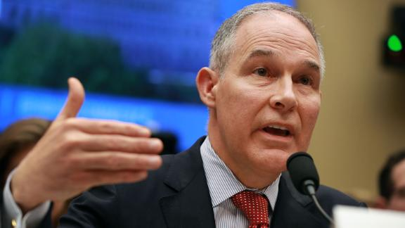 Environmental Protection Agency Administrator Scott Pruitt testifies before the House Energy and Commerce Committee's Environment Subcommittee in the Rayburn House Office Building on Capitol Hill April 26, 2018 in Washington, DC. (Chip Somodevilla/Getty Images)