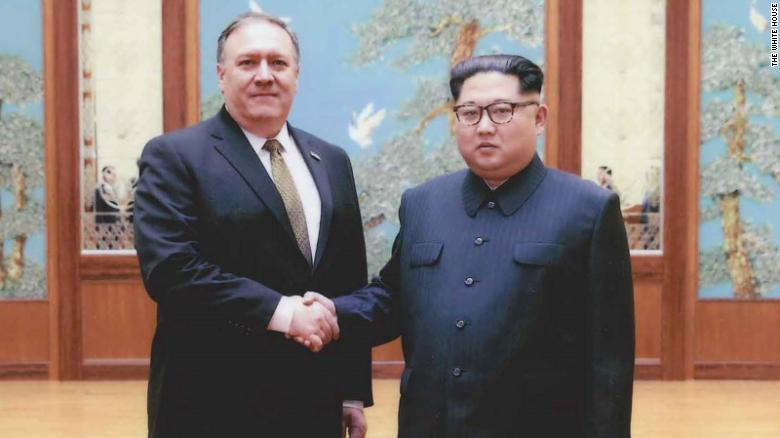 White House releases photos of Kim Jong Un and Pompeo
