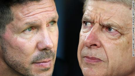 Simeone was sent off, while Wenger's last European game at the Emirates proved anti-climatic.