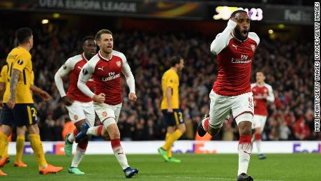 Lacazette gave Arsenal a second-half lead with a header.