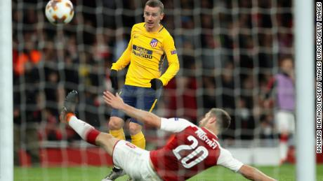 Griezmann capitalized on Arsenal's defensive frailties to equalize.