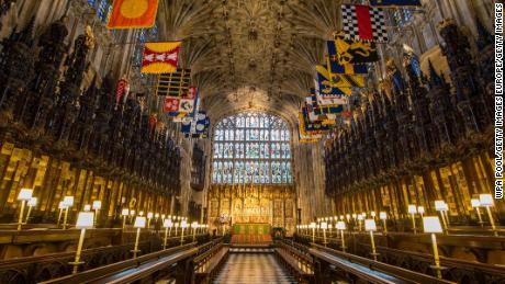 The Quire in St. George's Chapel at Windsor Castle.