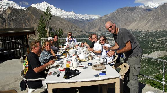 "Hunza Valley:  ""In Hunza [a mountainous valley in the Gilgit-Baltistan region], you can sit on the rooftop at your hotel having breakfast and you"