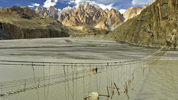 Hunza Bridge: Pakistan was named the top adventure travel destination for 2018 by the British Backpacker Society.