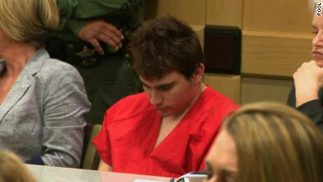 Parkland school shooter Nikolas Cruz  in court on Friday.