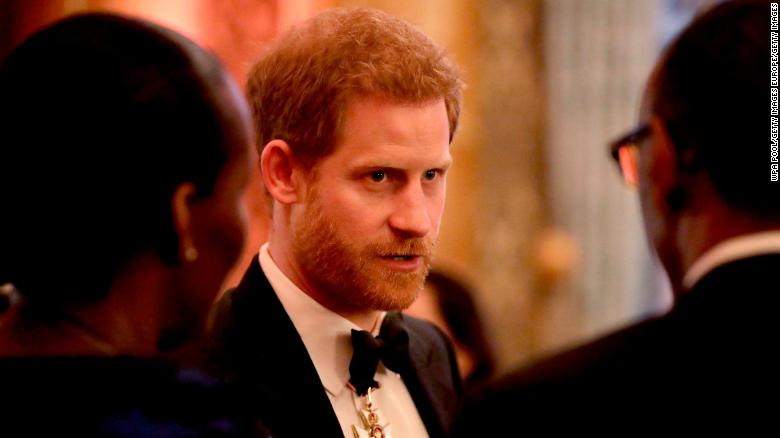 LONDON, ENGLAND - APRIL 19: Prince Harry sduring a reception for the Queen's Dinner for the Commonwealth Heads of Government Meeting (CHOGM) at Buckingham Palace on April 19, 2018 in London, England.  (Photo by Matt Dunham - WPA Pool/Getty Images)