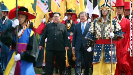 When Kim met Moon: All the key moments from a historic day
