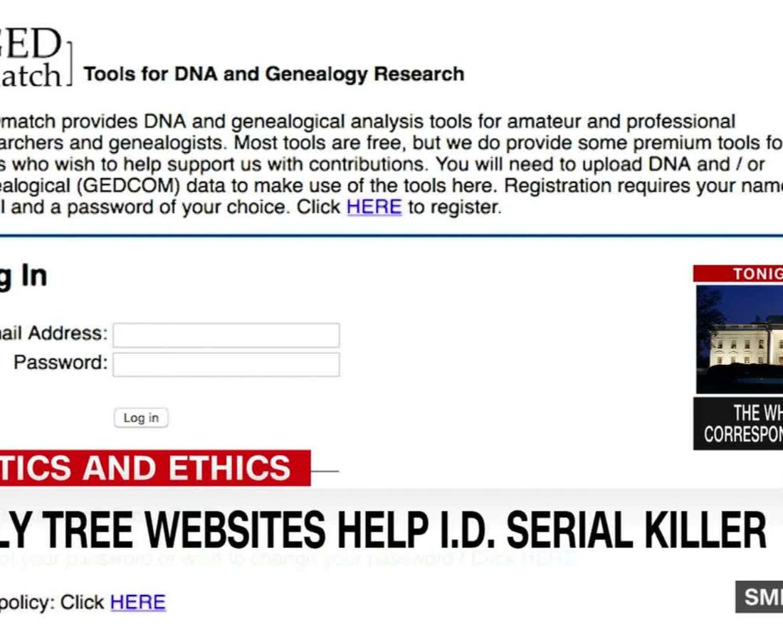 Family tree websites help I D  serial killer A serial killer was caught