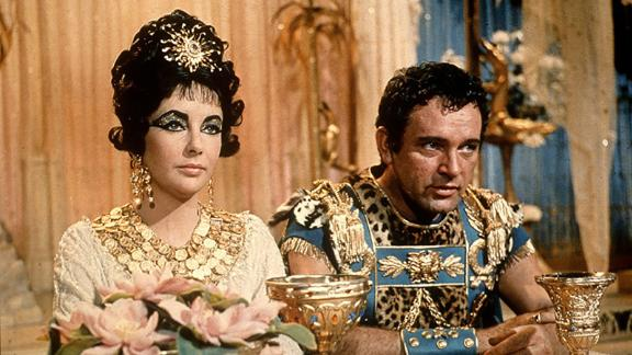 """""""Cleopatra"""" : Elizabeth Taylor and Richard Burton starred in this now classic movie, which famously went over budget and was a royal pain when it came to production issues. (HBO Now)"""