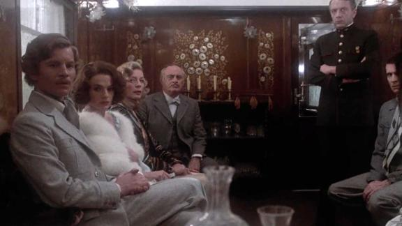 """""""Murder on the Orient Express"""": Detective Hercule Poirot is recruited to solve a murder that occurs on the train he"""
