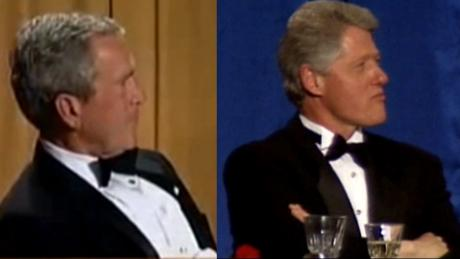 bill clinton george w bush Correspondents' Dinner