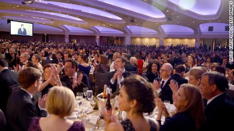 WASHINGTON, DC - APRIL 28:  A view of the venue during the 2018 White House Correspondents' Dinner at Washington Hilton on April 28, 2018 in Washington, DC.  (Photo by Tasos Katopodis/Getty Images)
