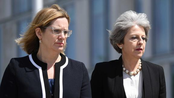 Former Home Secretary Amber Rudd and key ally Prime Minister Theresa May.