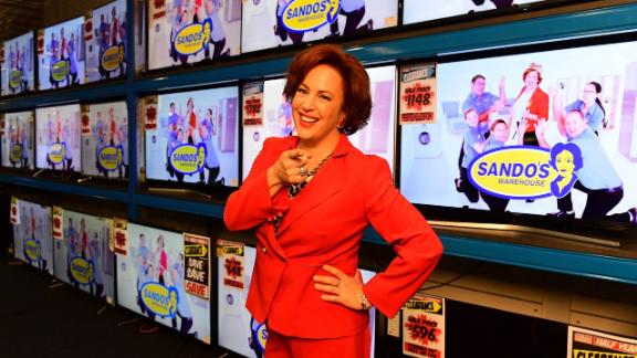 """""""Sando"""": Sacha Horler stars in this Australian comedy as Victoria """"Sando"""" Sandringham, a charismatic loose cannon chief executive officer and public face of a popular discount furniture store chainwho  tries to reconnect with her estranged family in order to win back her beloved company. (Acorn TV)"""