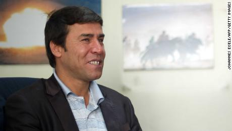 Agence France-Presse's chief photographer in Kabul, Shah Marai, is pictured at the AFP bureau in Kabul in April 2012.