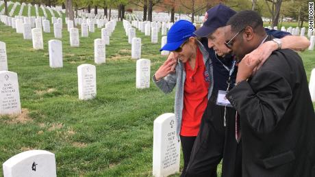 George Boone visited his late wife's grave just three days after the tenth anniversary of her burial.