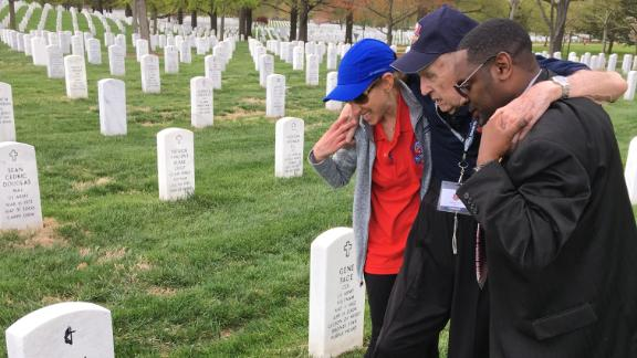 George Boone visited his late wife's grave three days after the 10th anniversary of her burial.