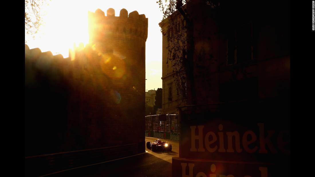 "Sebastian Vettel races through a street in Baku, Azerbaijan, during Formula One qualifying on Saturday, April 28. <a href=""http://www.cnn.com/2018/04/24/sport/gallery/what-a-shot-sports-0424/index.html"" target=""_blank"">See 24 amazing sports photos from last week</a>"