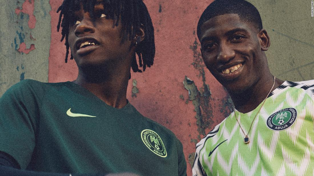 217f0ee2af8 The kit is also reminiscent of what the Nigerian team wore at the 1994 World  Cup