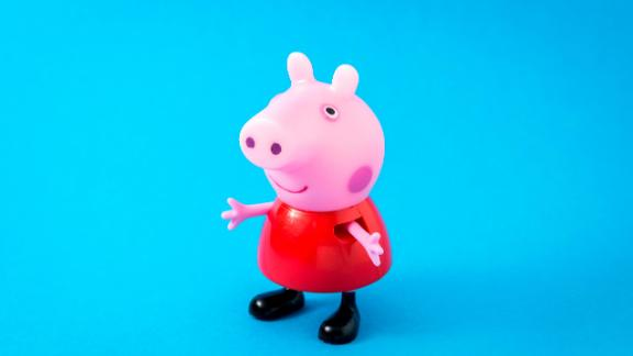 """Borgosesia, Italy - June 14, 2013: A figurine toy of Peppa Pig, a character from """"Peppa Pig"""" children's animated television series by Astley Baker Davies and distributed by E1 Kids."""