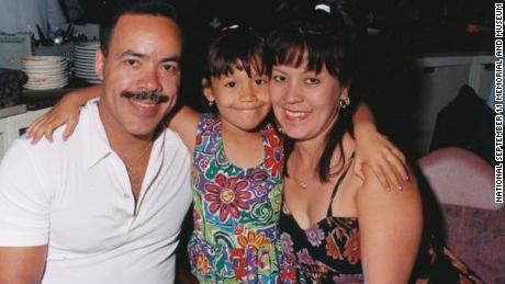 Jillian Suarez, in an undated family photo with her father Ramon Suarez and mother  Carmen Suarez