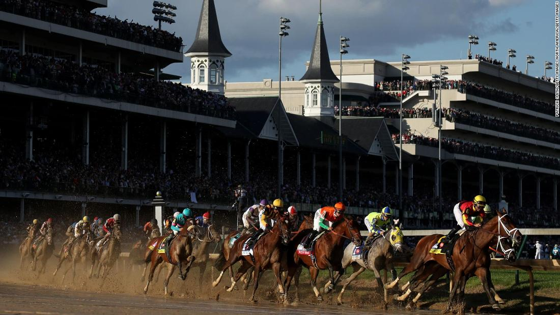 The Kentucky Derby, first run in 1875, is the first leg of the American Triple Crown and a sporting and cultural icon in the US. It  is for three-year-old thoroughbreds and is run over a mile and a quarter at Churchill Downs.