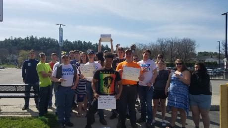 Schoharie Central School District students join the walkout to defend Second Amendment rights.