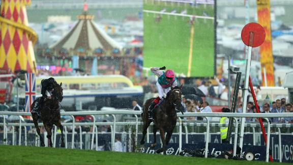 The Oaks is the fillies' equivalent of The Derby, a mile-and-a-half test over the undulating Downs of Epsom, south of London. The Oaks comes on day one of the Derby Festival. Frankie Dettori rode Enable (pictured) to victory in a record time in 2017 to scupper O'Brien's quest to win all five Classics.