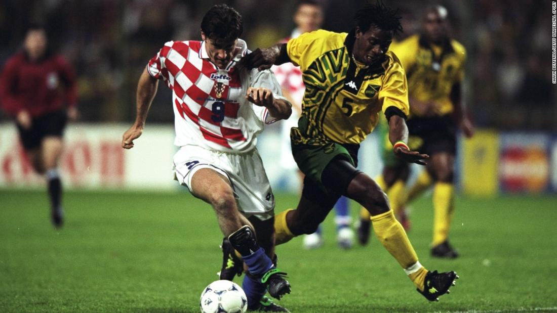 Croatia's red and white checkered kit from its first World Cup in 1998 will forever be remembered as the design in which Davor Suker earned the Golden Boot.