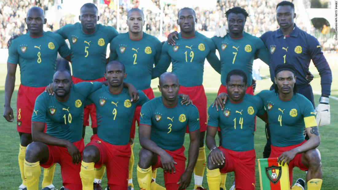 Cameroon's full body suit for the 2004 African Cup of Nations became infamous after it was banned by FIFA for not following regulations.