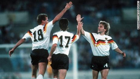 "Devlin says Germany's kit design was ""elevated to a new level of beauty"" when the colors of its flag were incorporated into the design in 1988."