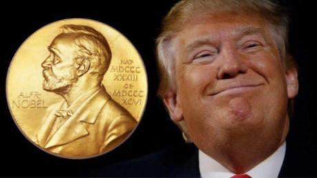 Image result for trump forged nobel prize