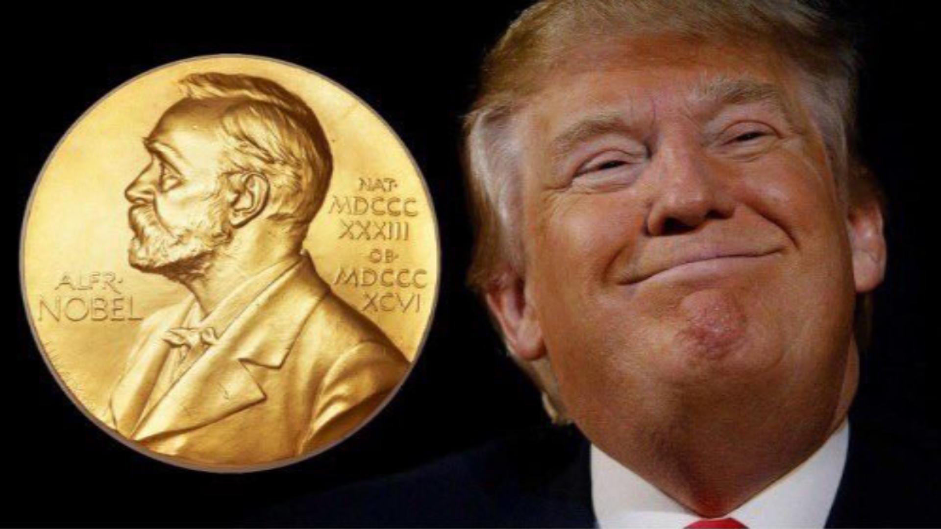 Resultado de imagem para Trump Nobel