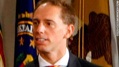 Marc Mukasey seen in 2007 at his father's, Michael Muasey's swearing in as Attorney General.