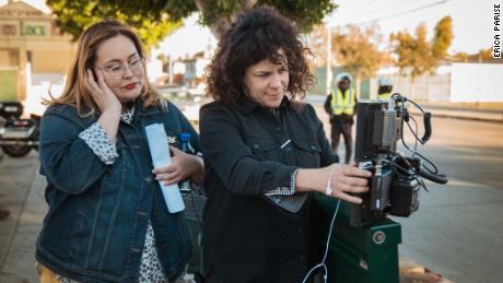 Tanya Saracho, left, with 'Vida' director Rosemarie Troche