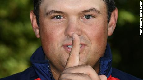 CHASKA, MN - SEPTEMBER 27:  Patrick Reed of the United States poses during team photocalls prior to the 2016 Ryder Cup at Hazeltine National Golf Club on September 27, 2016 in Chaska, Minnesota.  (Photo by Ross Kinnaird/Getty Images)